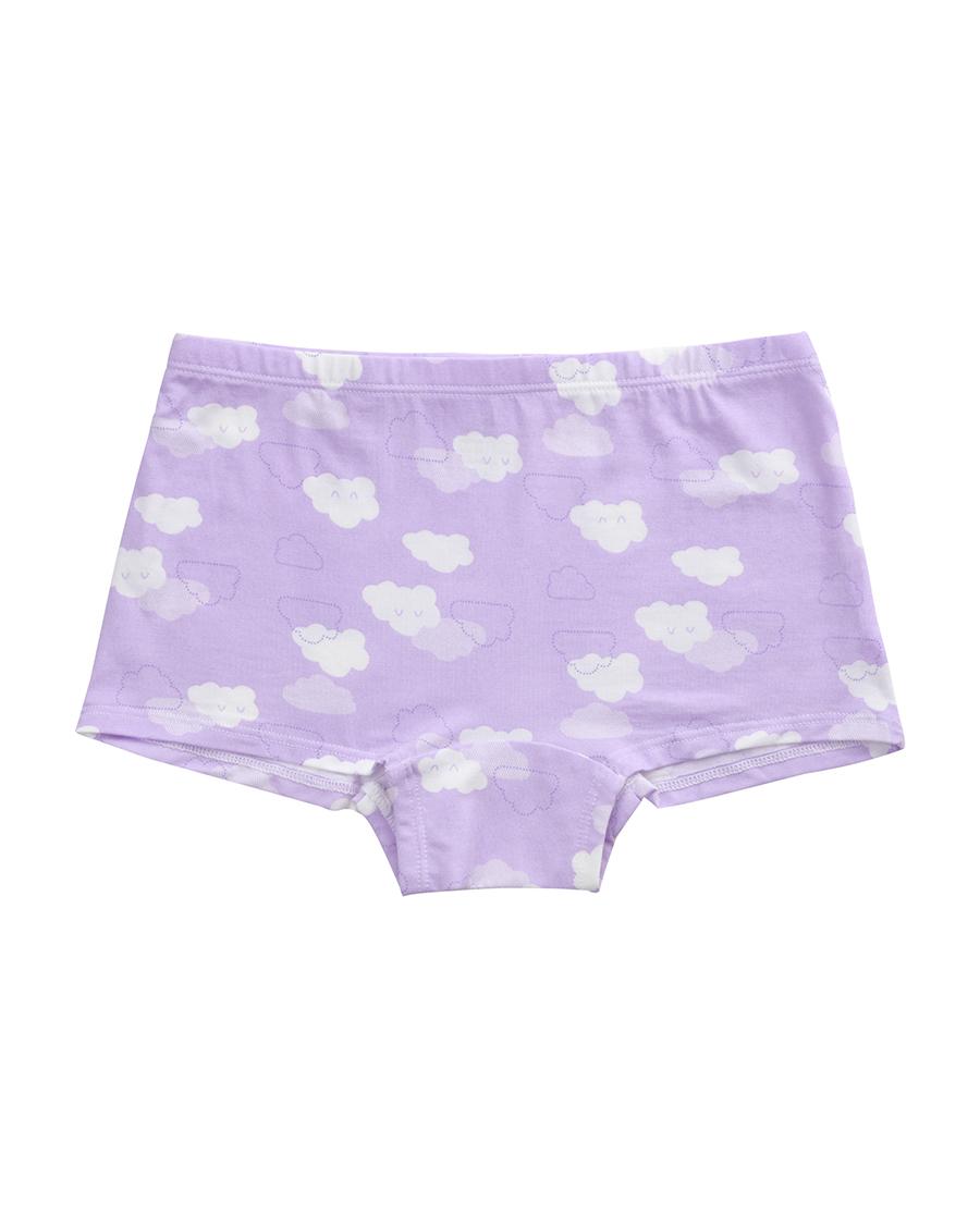 爱慕儿童天使小裤MODAL印花云朵朵中腰平角内裤AK1230042