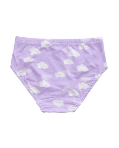 Aimer Kids内裤|爱慕儿童天使小裤MODAL印花云朵朵中腰三角内裤AK1220042