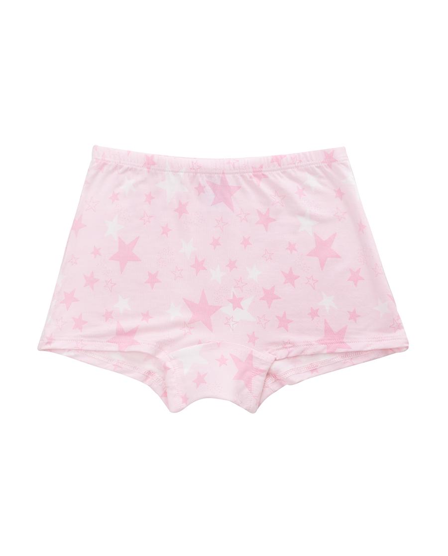 爱慕儿童天使小裤MODAL印花满天星中腰平角内裤AK1230041