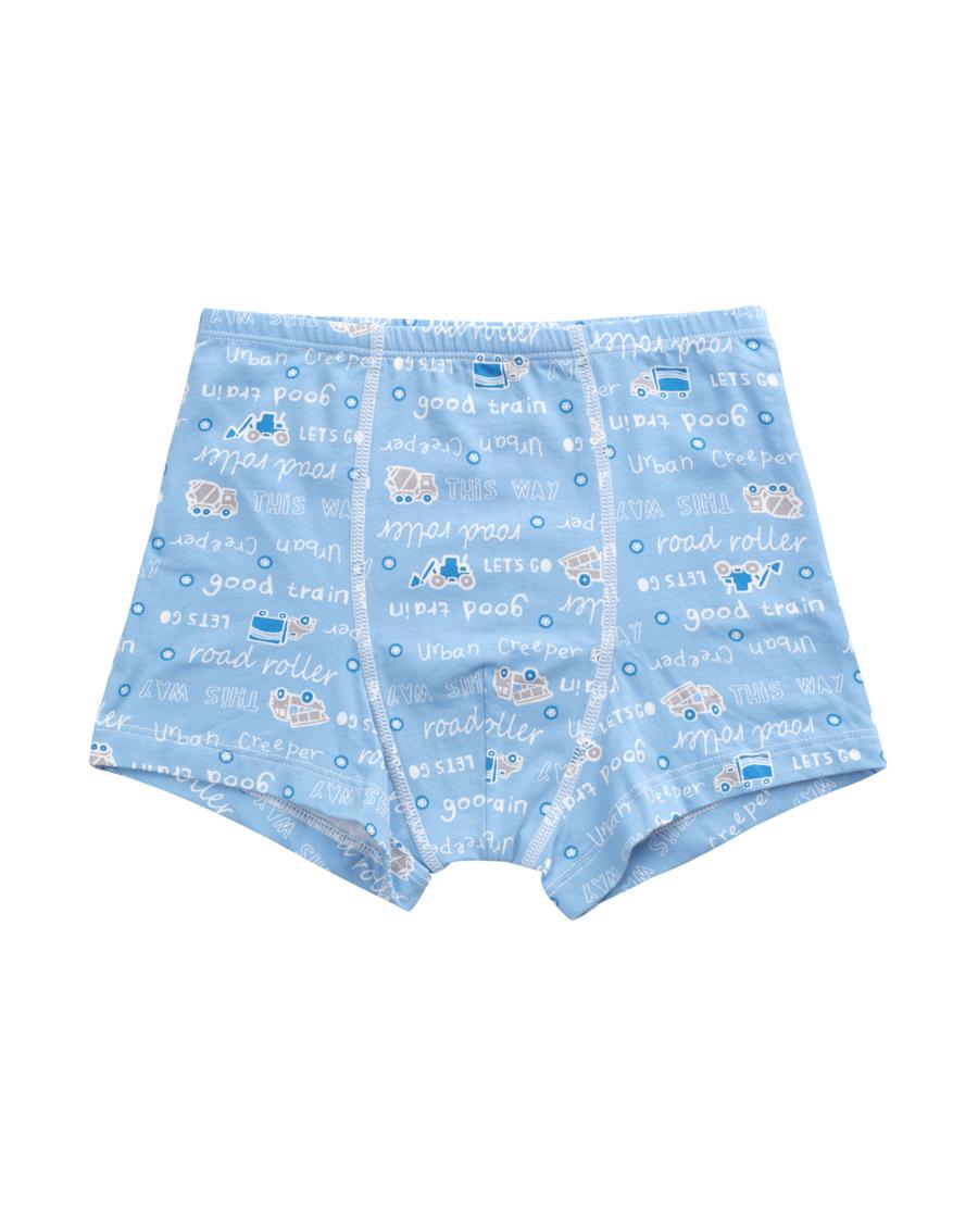 爱慕儿童天使小裤棉氨纶印花城市爬行者中腰平角内裤AK2230051