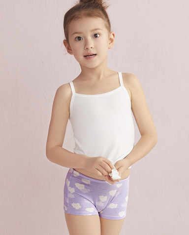 Aimer Kids内裤|爱慕儿童天使小裤MODAL印花云朵朵中腰平角内裤AK1230042