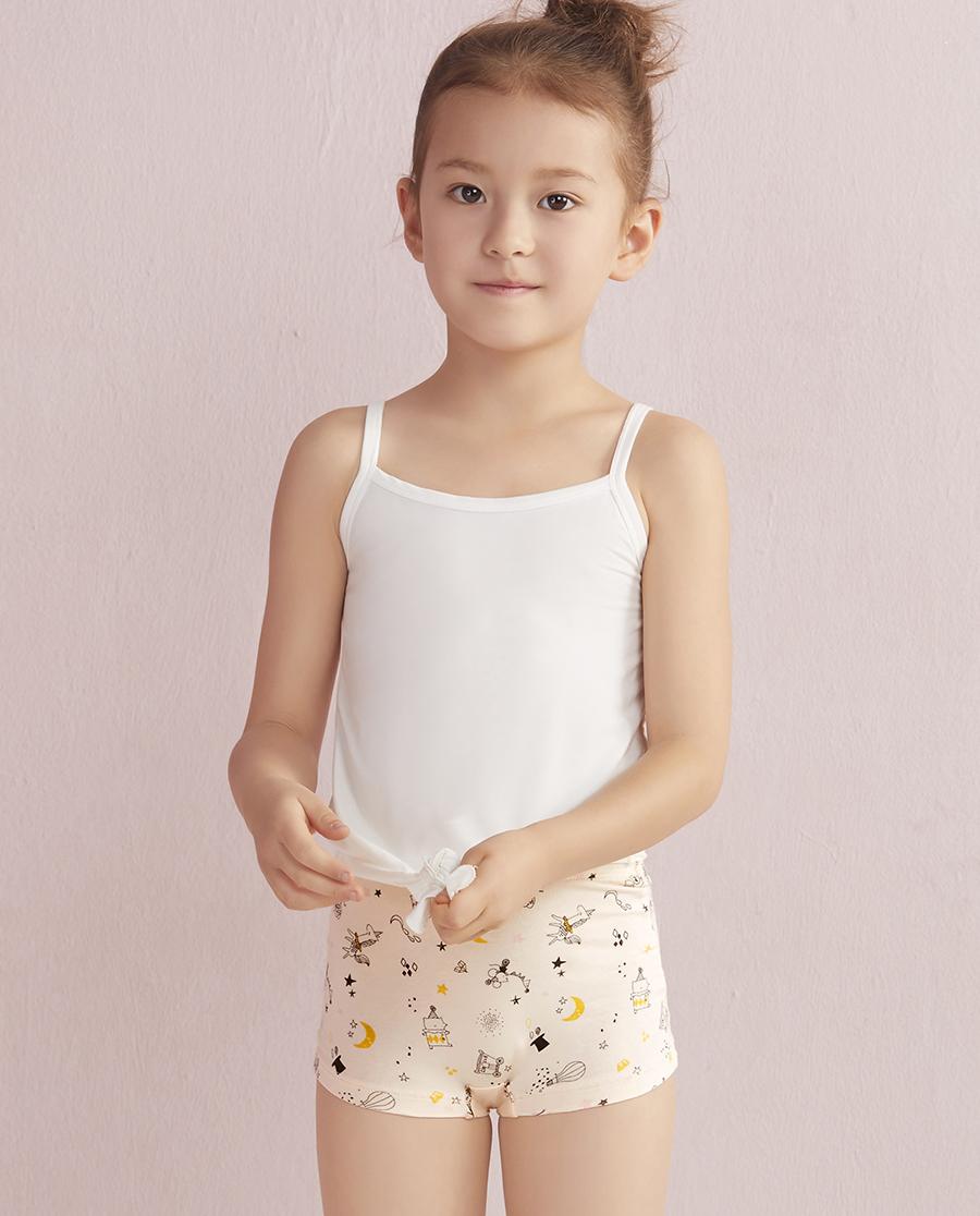 Aimer Kids内裤|爱慕儿童天使小裤棉氨纶印花太空马戏团中腰平角内裤AK1230051
