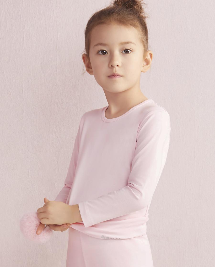 Aimer Kids保暖|爱慕儿童天使暖衣棉氨纶长袖上衣AK1720271