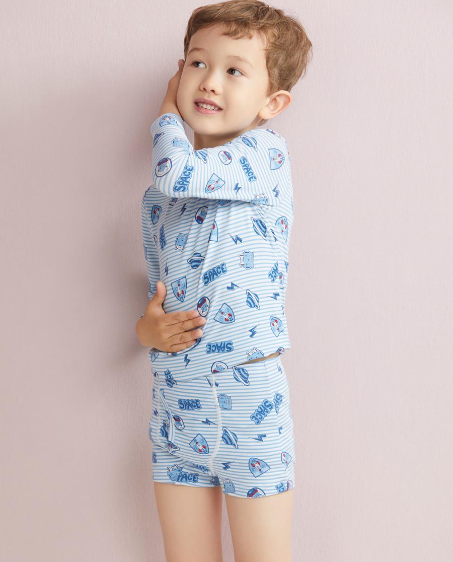 Aimer Kids内裤|爱慕儿童天使小裤MODAL印花太空护卫队中腰平角内裤AK2230044