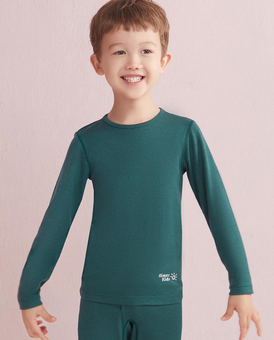 Aimer Kids保暖|爱慕儿童新暖尚单层圆领长袖上衣AK2720341