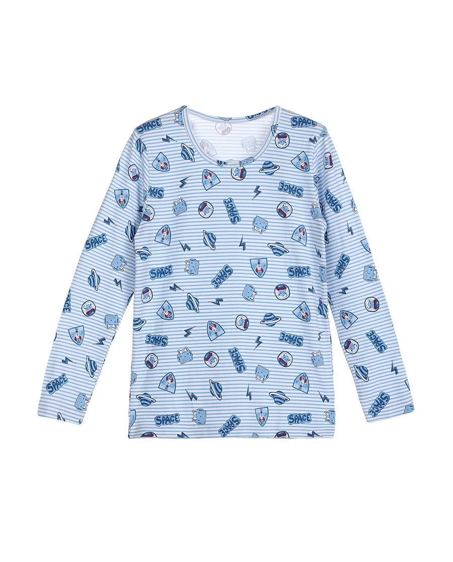 Aimer Kids保暖|爱慕儿童太空护卫队长袖上衣AK2720321