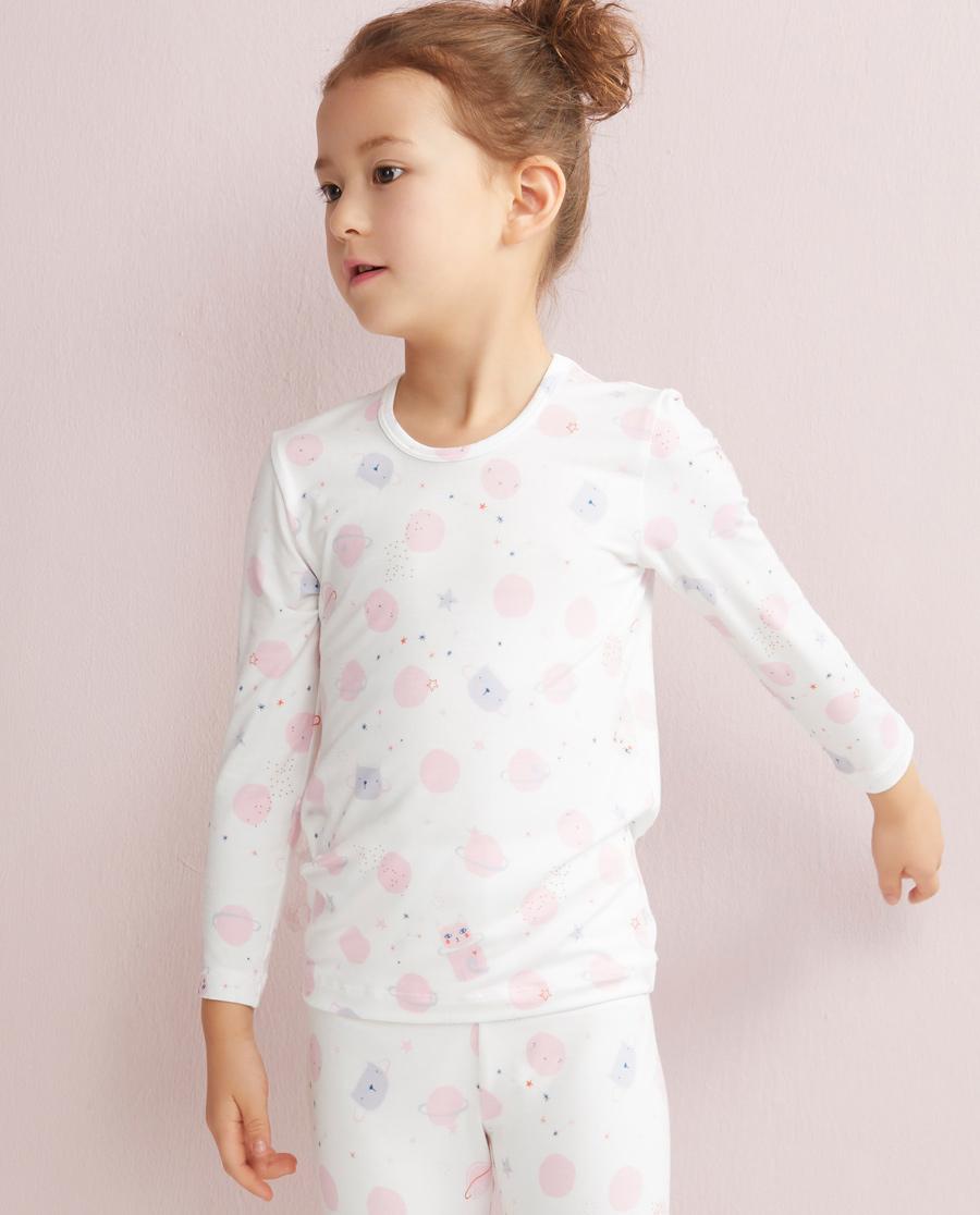 Aimer Kids保暖|爱慕儿童喵喵星球长袖上衣AK1720321