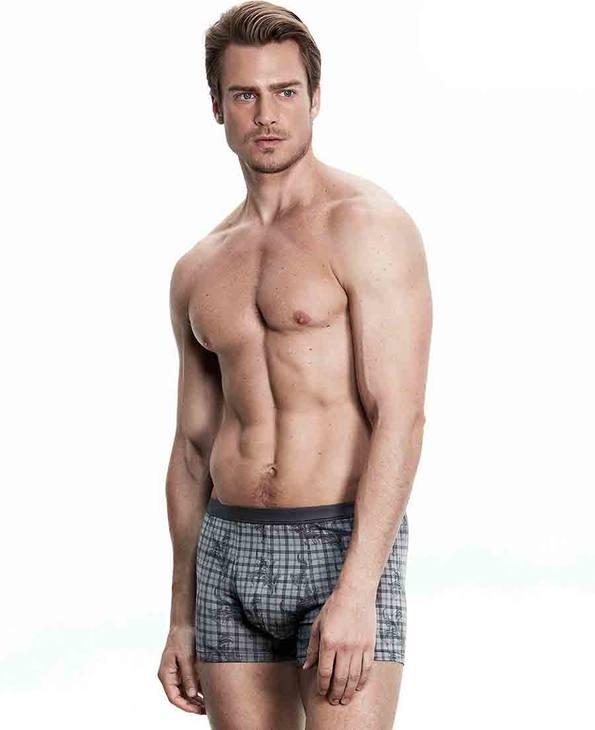 Aimer Men内裤|爱慕先生莫代尔印花中腰平角内裤NS23B072