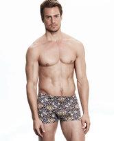 爱慕先生莫代尔印花中腰平角内裤NS23B071