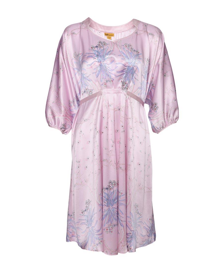 皇锦睡衣|皇锦玉台金盏蝙蝠袖连衣裙HJ21193