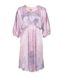 皇锦玉台金盏蝙蝠袖连衣裙HJ21193