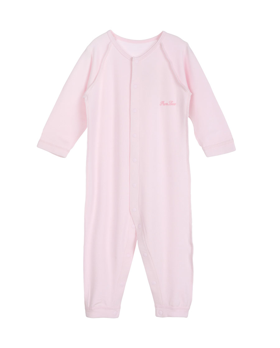 Aimer Baby保暖 爱慕婴儿爱牛奶女婴幼长袖连体爬服AB1750401