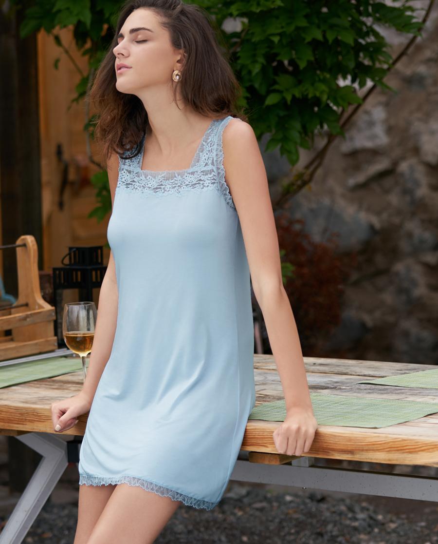 Aimer Home睡衣|爱慕家品花语II无袖中长睡裙AH440161