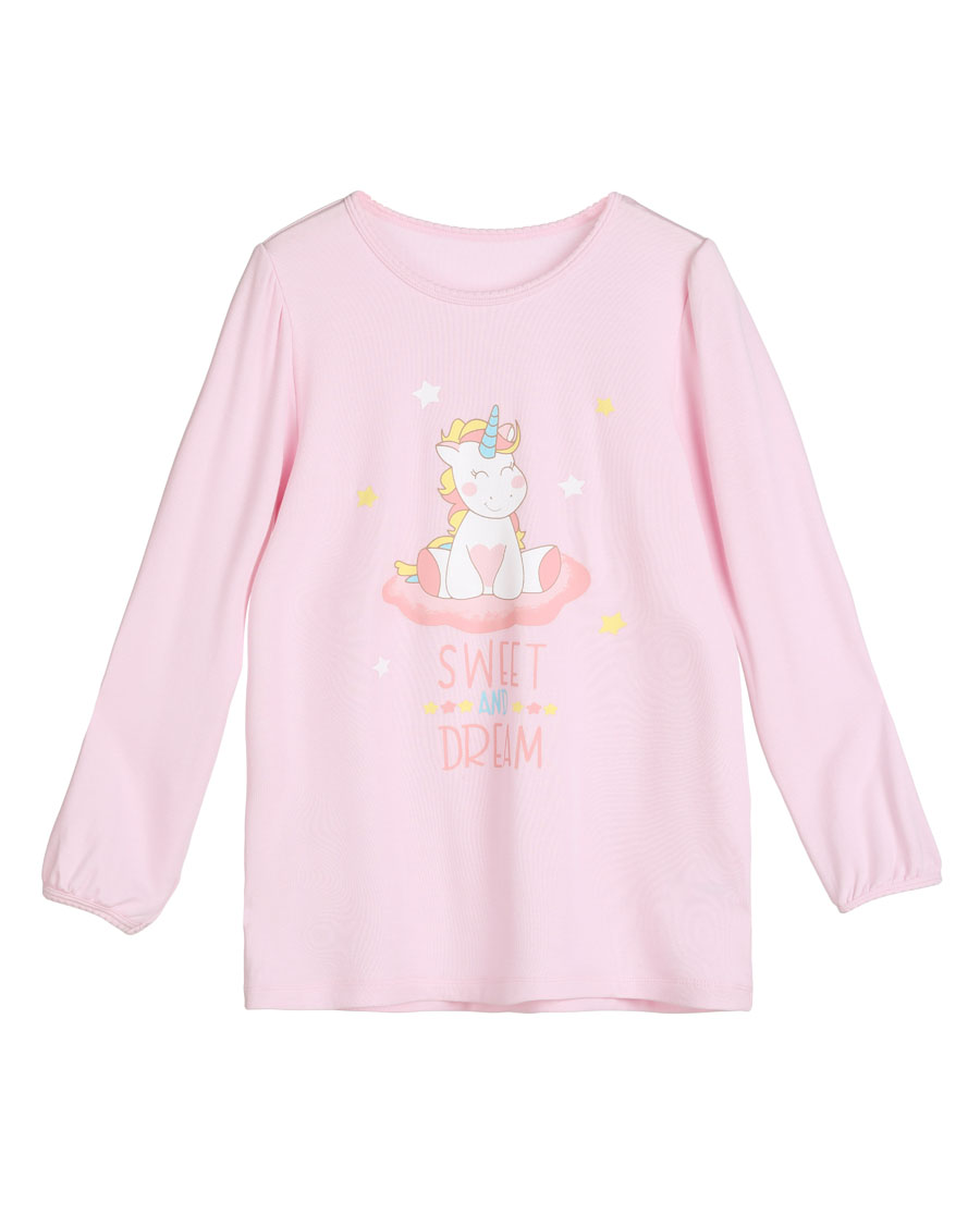Aimer Kids睡衣|爱慕儿童独角兽长袖家居上衣AK1410021