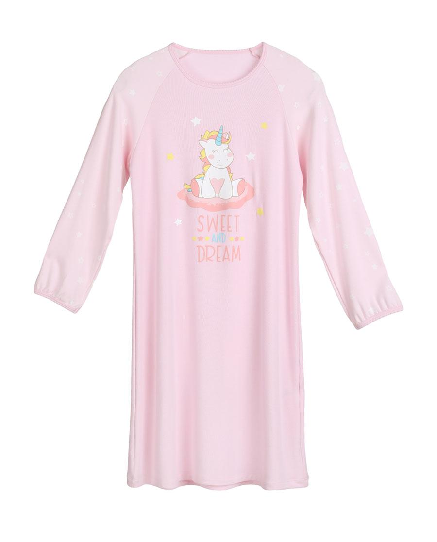 Aimer Kids睡衣|爱慕儿童独角兽长袖中款家居睡裙AK1440021