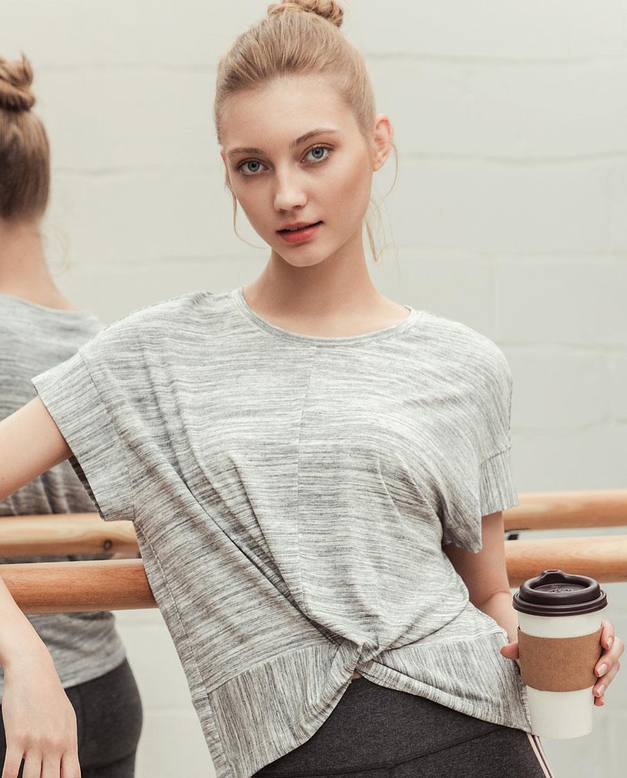 Aimer Sports运动装|ag真人平台运动心灵瑜伽短袖T恤AS143D92