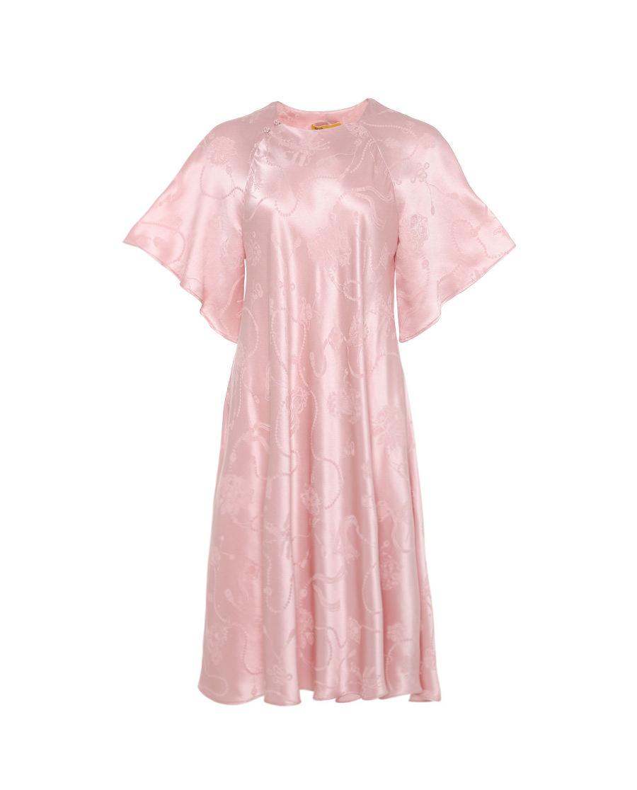 皇锦睡衣|皇锦珠联璧合荷叶袖连衣裙HJ21198