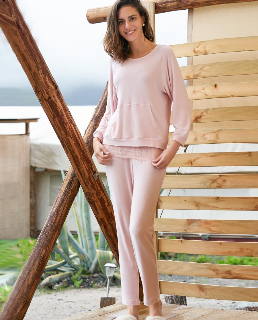 Aimer Home睡衣|ag真人平台家品禅意画师长裤AH470221