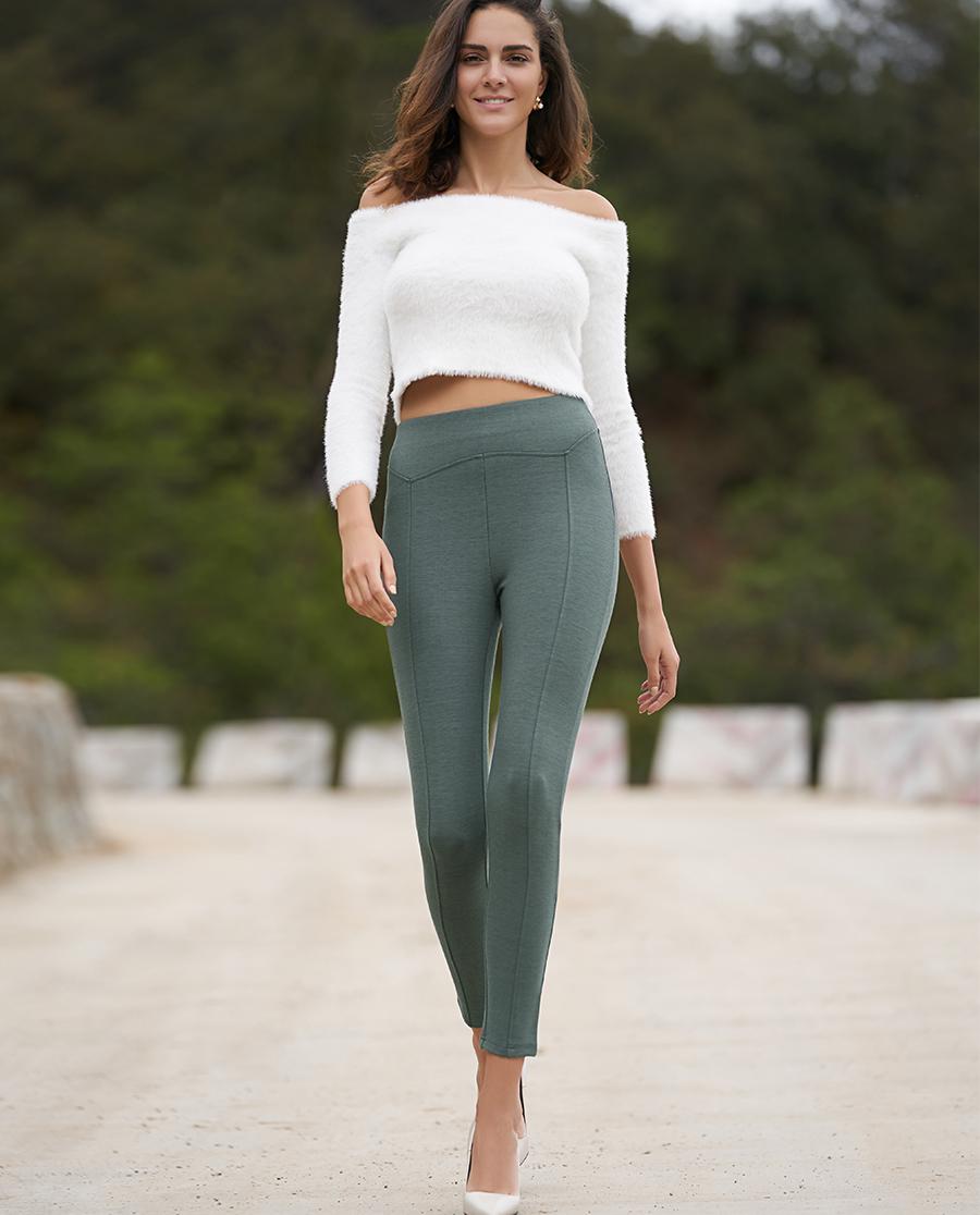 Aimer睡衣|ag真人平台打底裤群外穿素色打底长裤AM822187