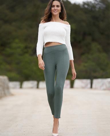 Aimer睡衣 爱慕打底裤群外穿素色打底长裤AM822187