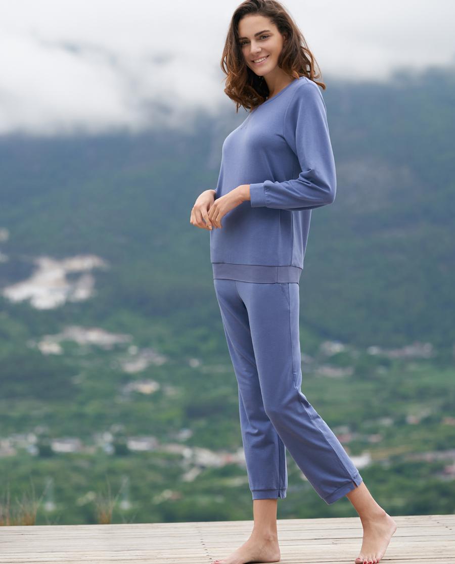 Aimer Home睡衣|ag真人平台家品棉柔轻享九分运动裤AH470231