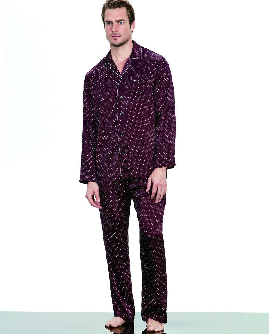 Aimer Men睡衣|爱慕先生真丝家居长裤NS42B501