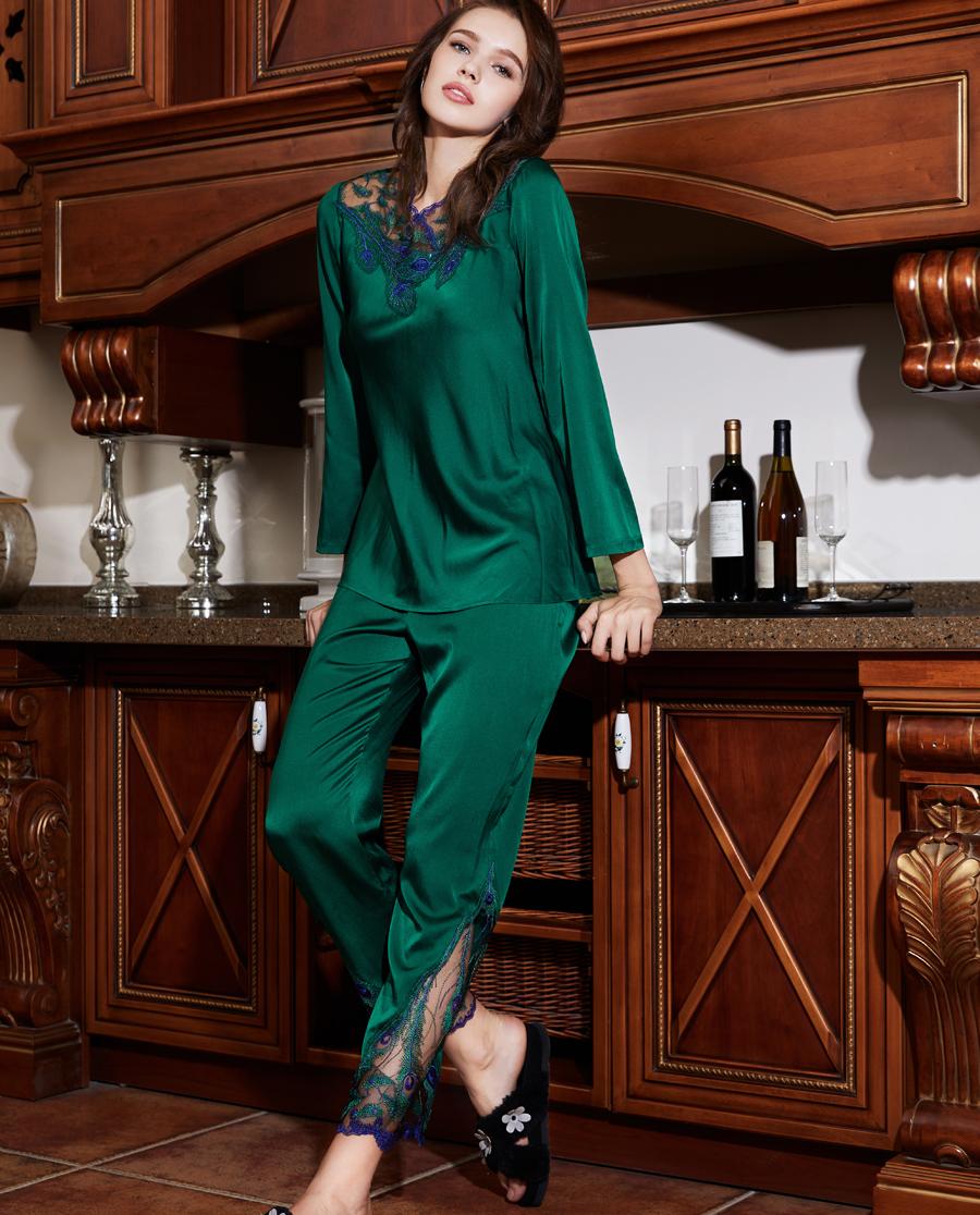 La Clover睡衣|LA CLOVER雀之翎兰2长袖分身家居套装LC46FY1
