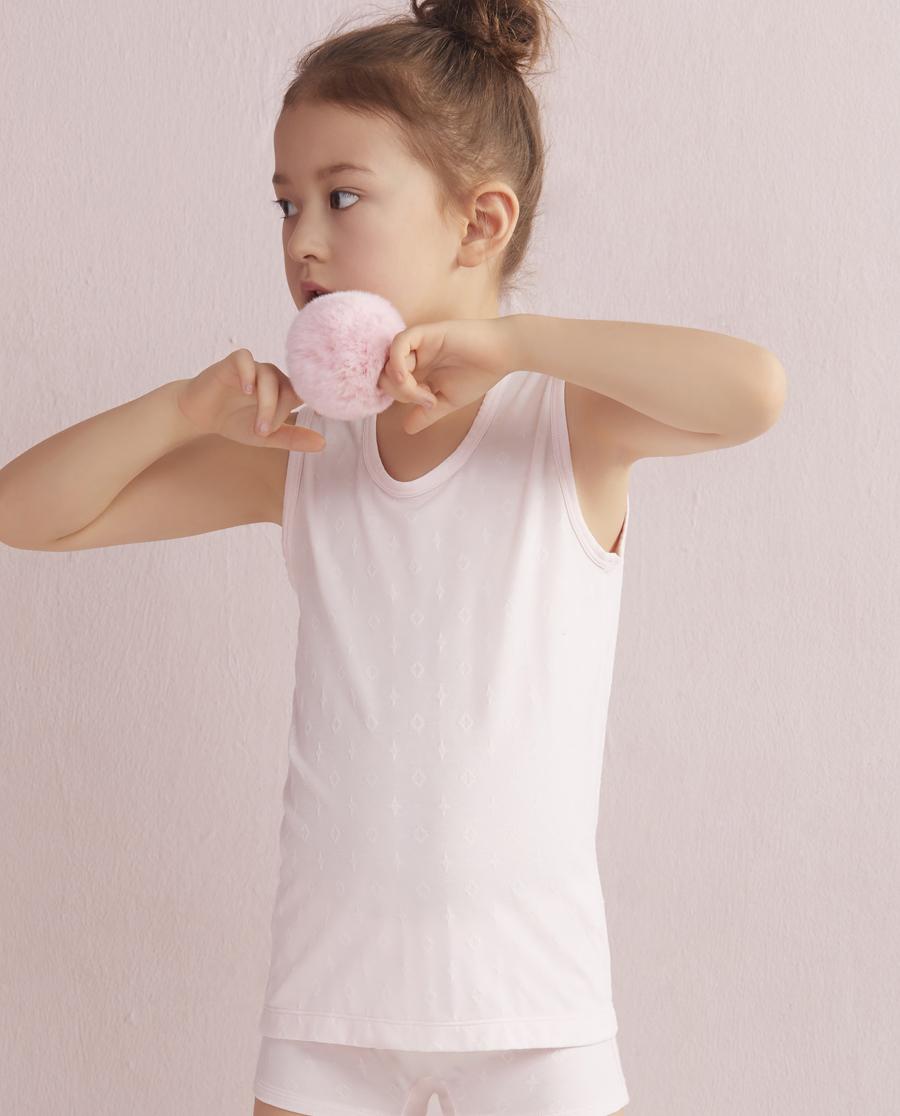 Aimer Kids睡衣|爱慕儿童闪耀牛奶宽肩背心AK1110091