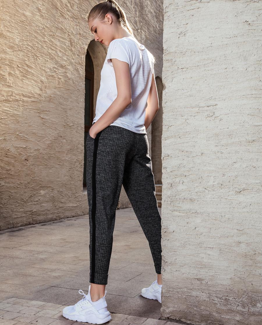 Aimer Sports睡衣 爱慕运动早秋风尚拼织带宽松长裤AS153F22