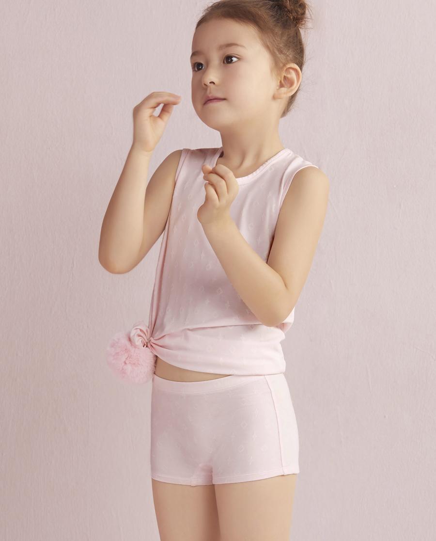 Aimer Kids内裤|爱慕儿童闪耀牛奶中腰平角内裤AK1230091