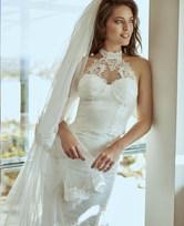 LA CLOVER挚爱white系列蕾丝鱼尾裙LC84FR1