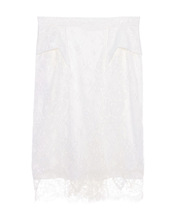La Clover休闲外穿|LA CLOVER挚爱white系列蕾丝鱼尾裙LC84FR1