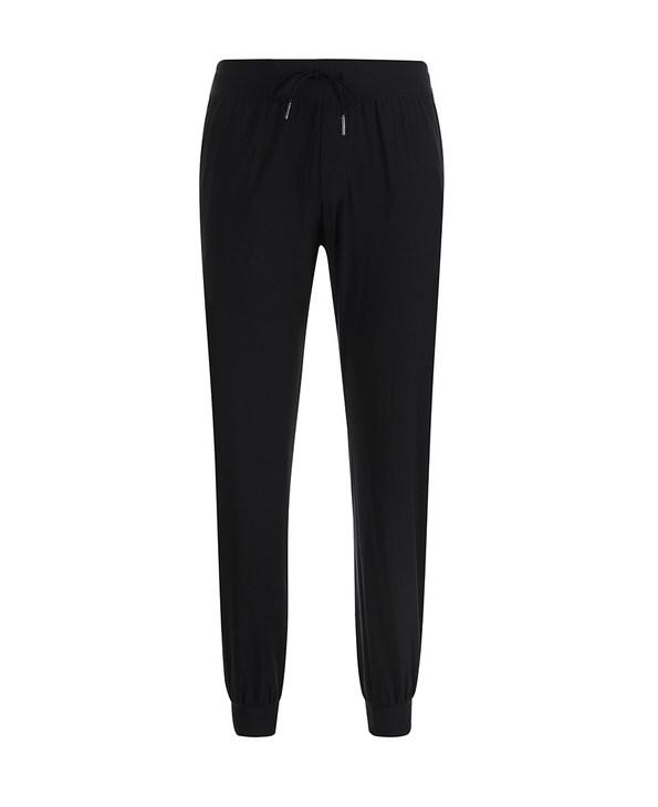 Aimer Men运动装|爱慕先生酷黑运动收口拉链薄绒长裤NS82B362
