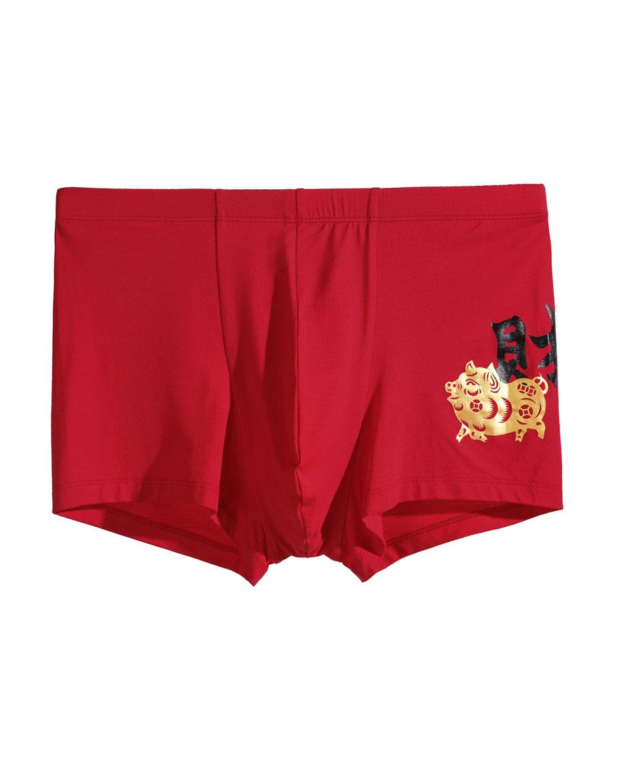 Aimer Men内裤 爱慕先生金猪生财裤系列中腰平角内裤NS23B171