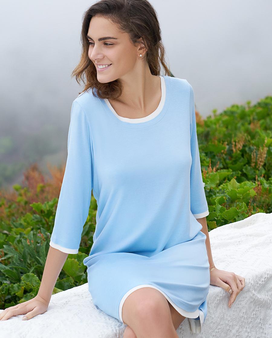 Aimer Home睡衣|爱慕家品牛奶好眠中长家居睡裙AH440291