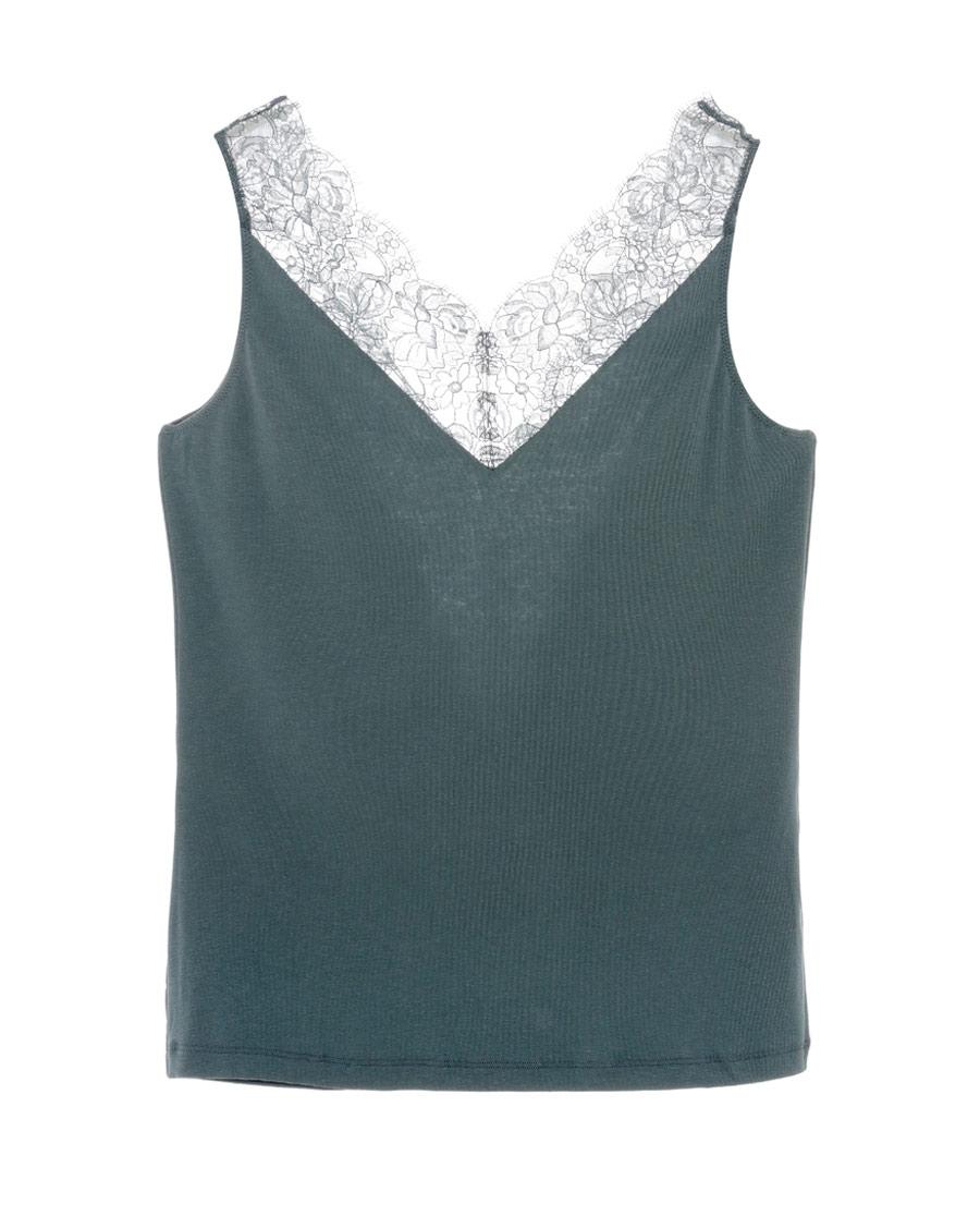 Aimer保暖|爱慕单品背心V领无袖上衣AM721891