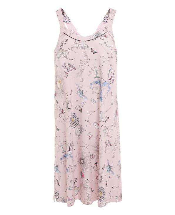 Aimer Home睡衣 爱慕家品锦色涟漪吊带中长睡裙AH440201