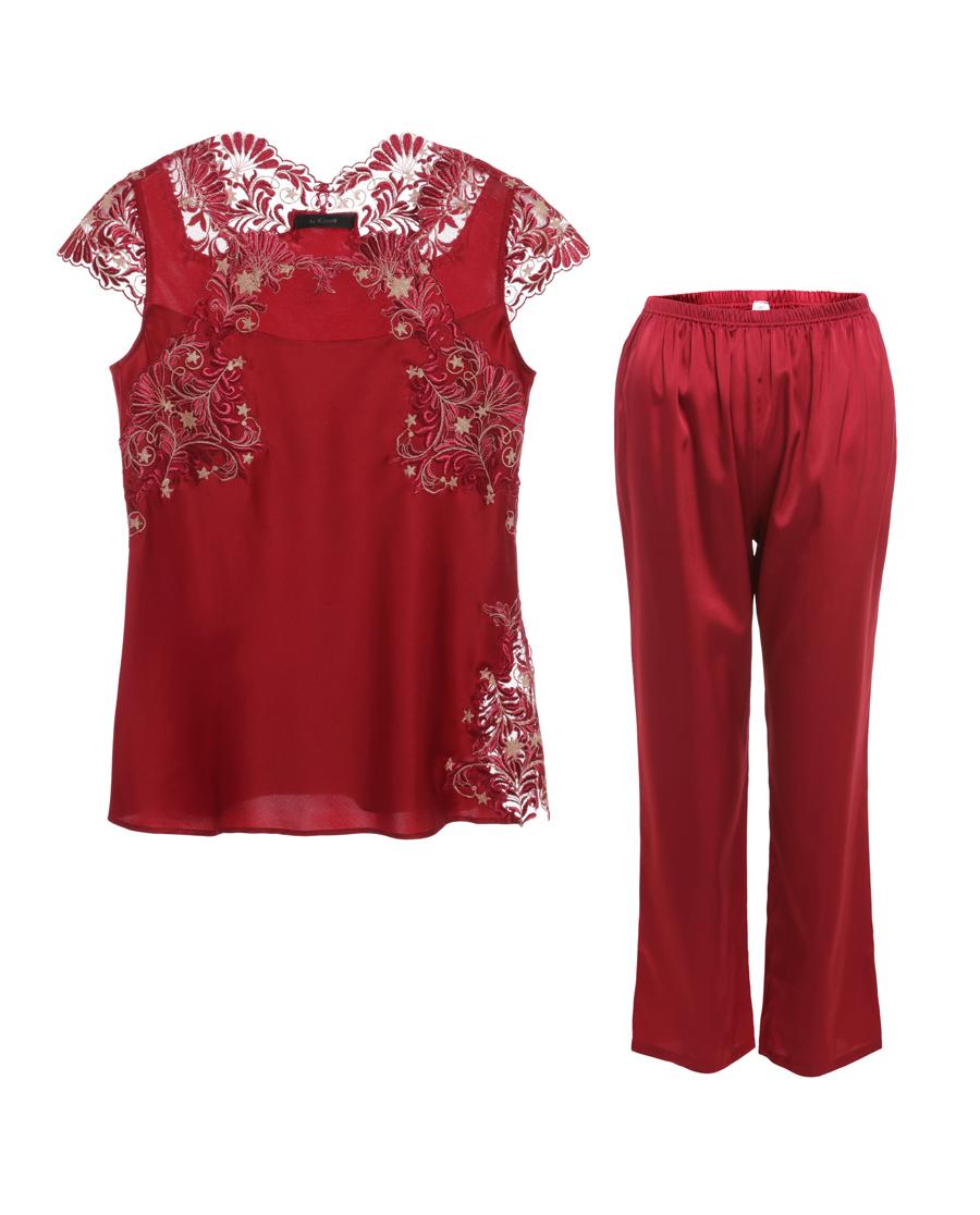 La Clover睡衣 LA CLOVER挚爱red系列小袖分身睡衣套装LC46GA1