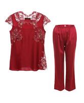LA CLOVER挚爱red系列小袖分身睡衣套装LC46GA1
