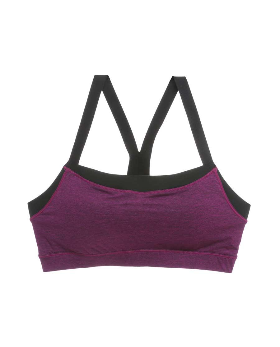 爱慕运动拼色瑜伽低强度抹胸背心式文胸AS111E41