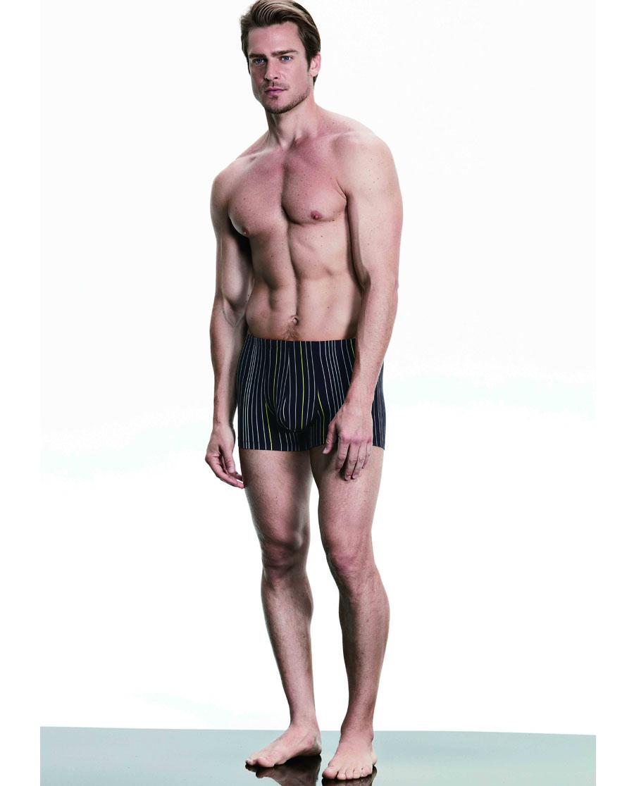 Aimer Men内裤|爱慕先生享条纹裤中腰平角内裤NS23B111