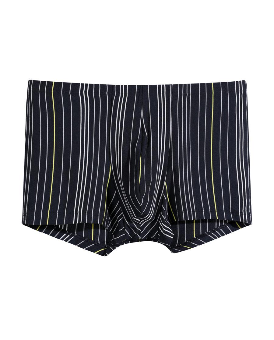 爱慕先生享条纹裤中腰平角内裤NS23B111