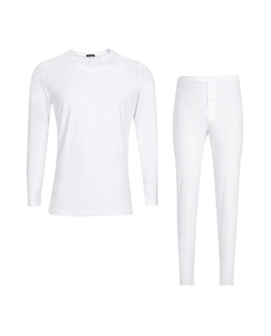 Aimer Men保暖|爱慕先生值莫代尔系列长袖长裤暖衣套装NS