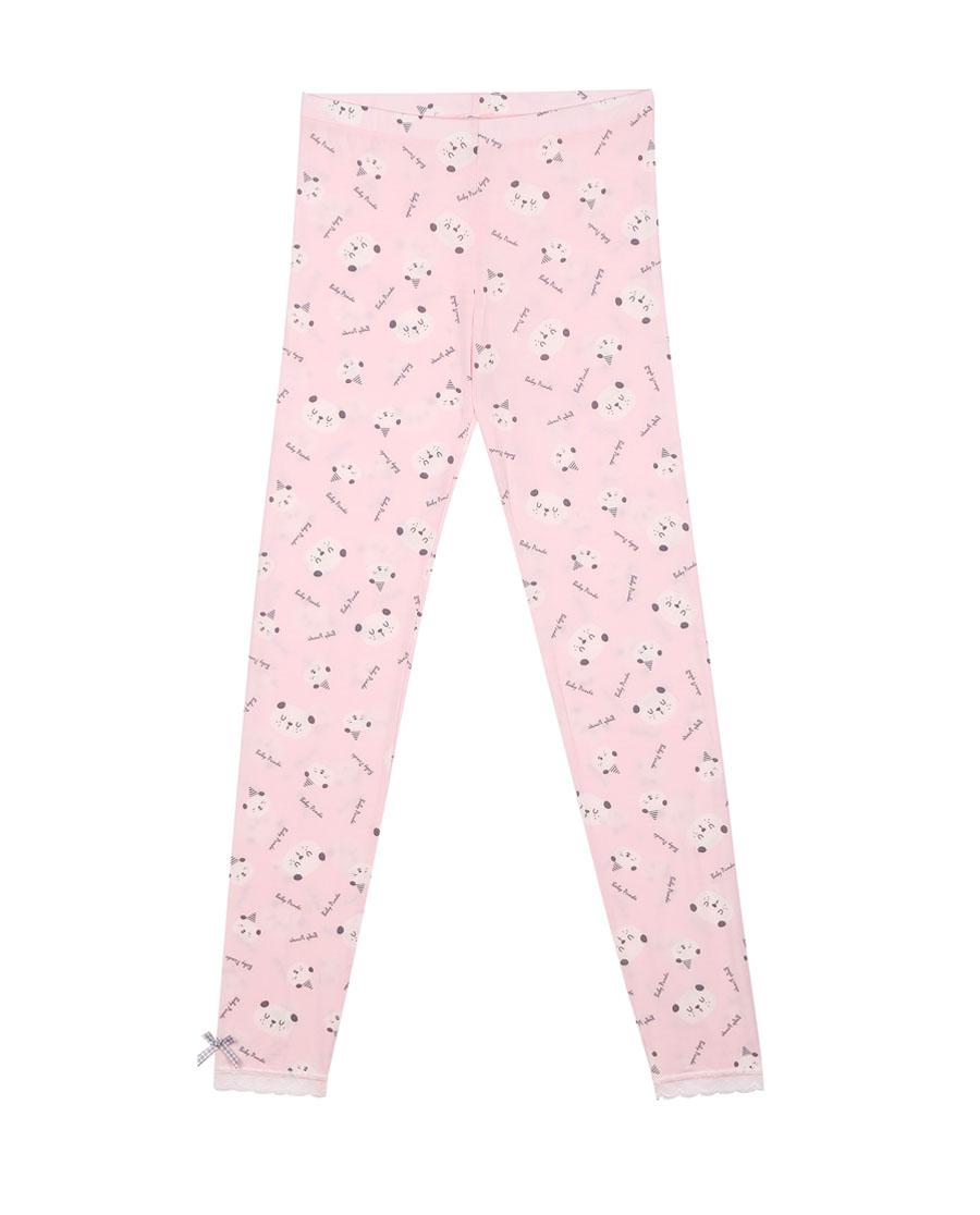 imi's保暖|爱美丽TEEN-保暖熊猫宝贝牛奶花边长裤