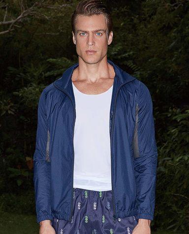 Aimer Men休闲外穿|爱慕先生度假系列拼网长袖外衣NS81A912