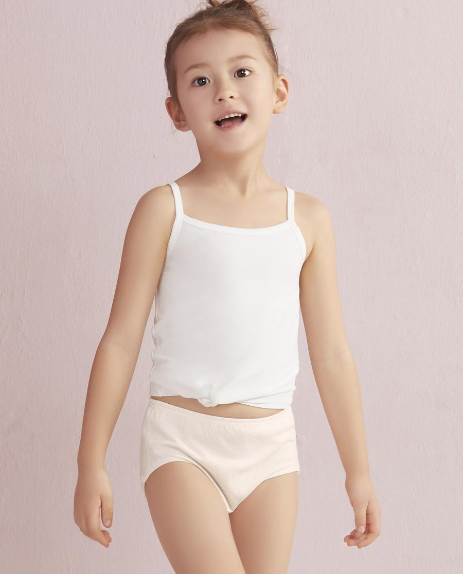 Aimer Kids内裤 爱慕儿童旋转呼啦圈中腰三角面包裤AK1220071