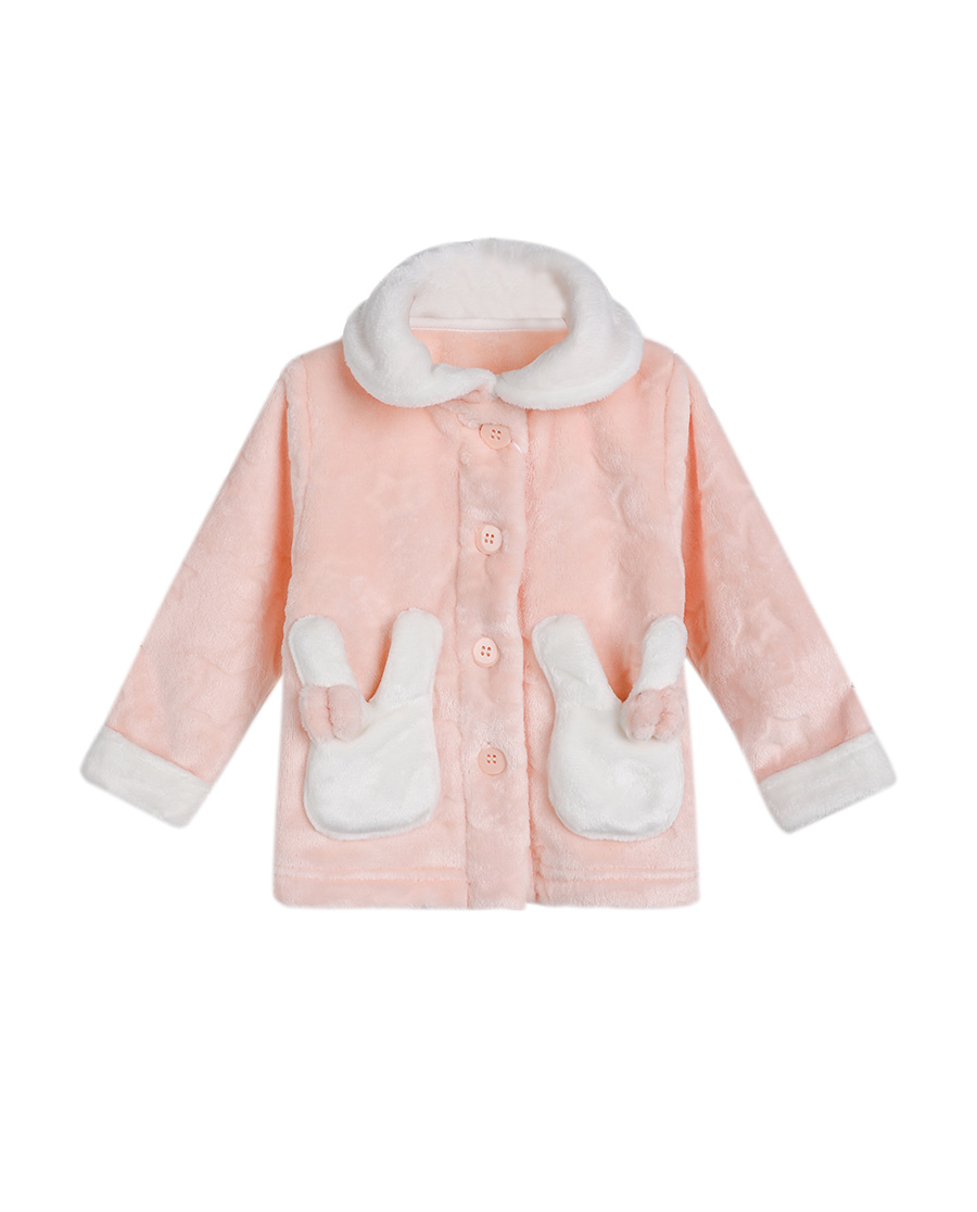 Aimer Baby睡衣 爱慕婴儿星星兔开衫长袖家居上衣AB1410231