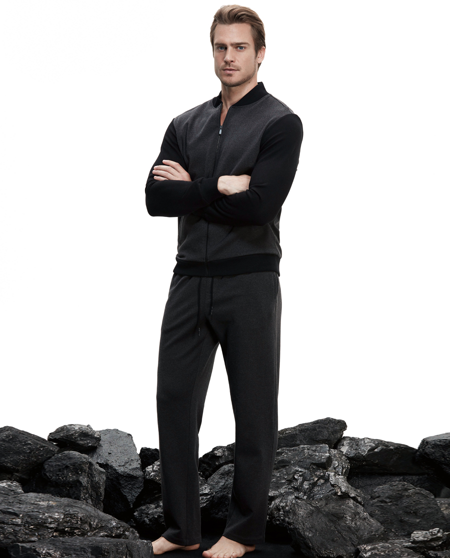 Aimer Men休闲外穿 ag真人平台先生休闲外穿敞口长裤NS82B341