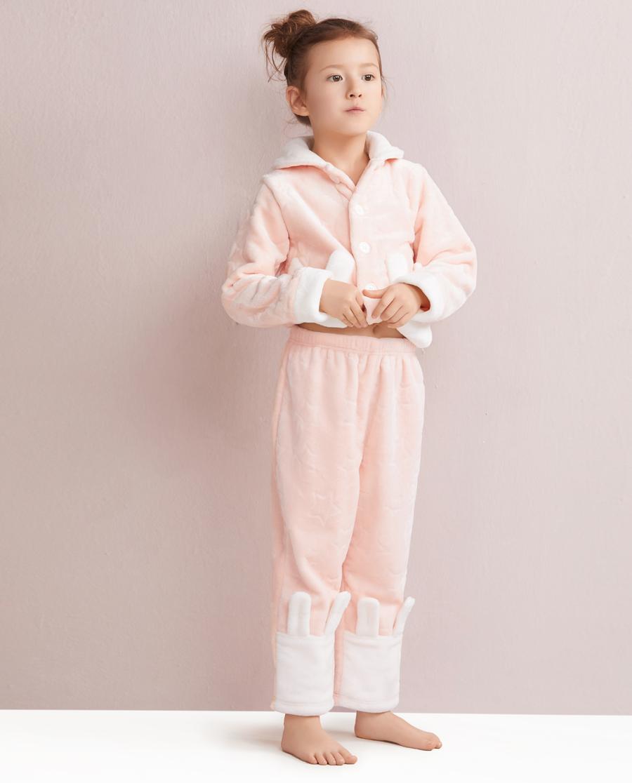 Aimer Kids睡衣|爱慕儿童星星兔家居长裤AK1420231