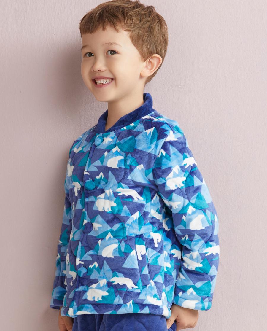 Aimer Kids睡衣|爱慕儿童冰山熊开衫长袖上衣AK2410241